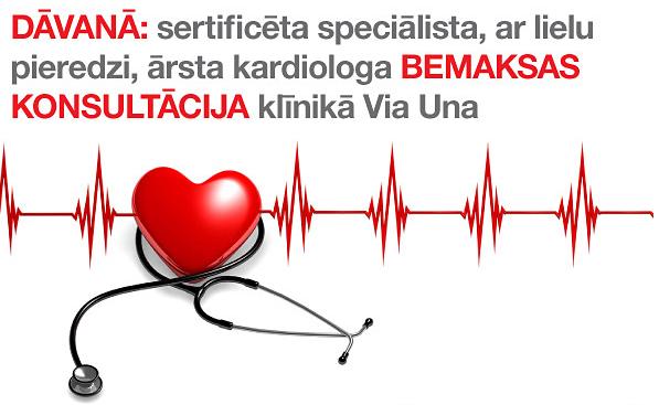 Pērkot divus Vitamīnus D3 iepakojumus DĀVANA kardiologa konsultācija